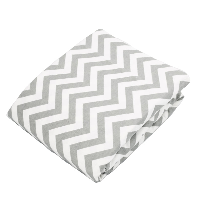 Bassinet Sheet | Chevron Grey