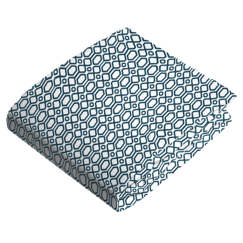 Bassinet Sheet | Octagon Navy
