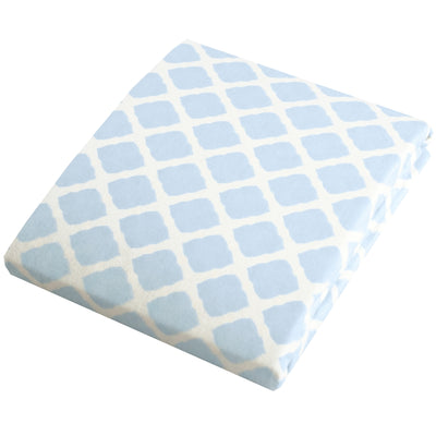 Bassinet Sheet | Lattice Blue