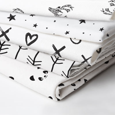 Bassinet Sheet | Deer Black & White