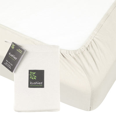 Organic Jersey Crib Sheet Off-White