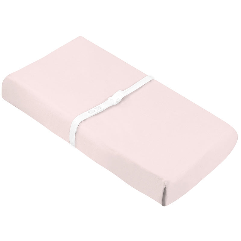 Organic Change Pad Sheet w- Slits for Safety Straps | Pink