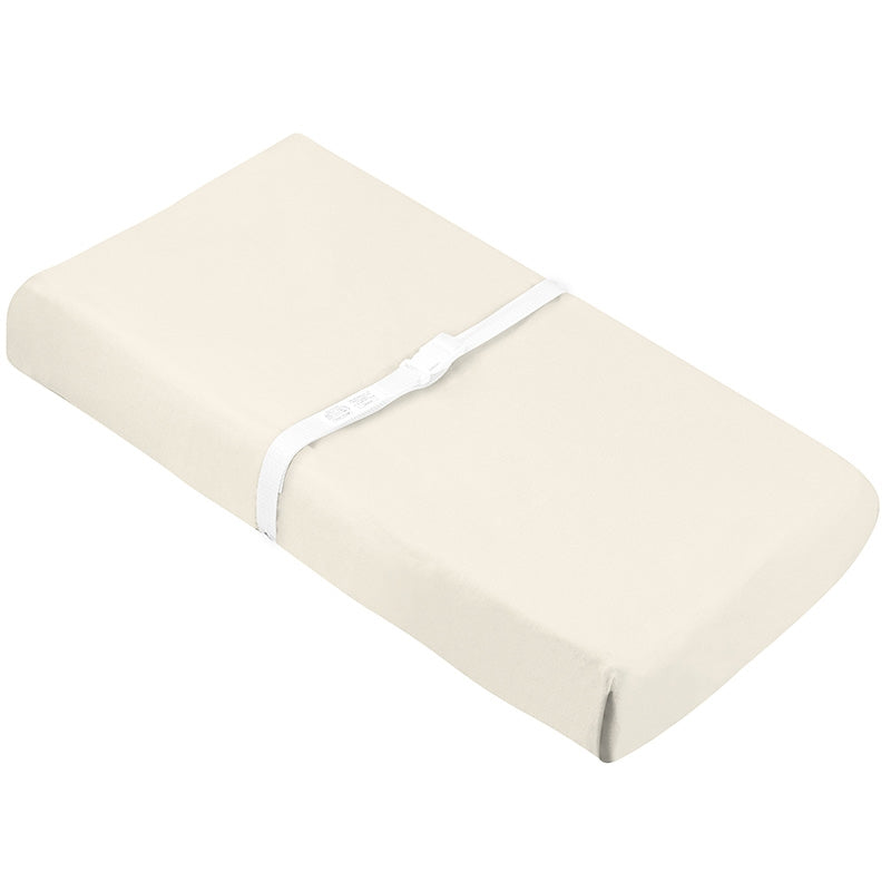 Organic Change Pad Sheet w- Slits for Safety Straps | Off-White