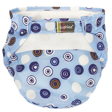 Ultra-Lite Diaper - Blue Crazy Circles 2