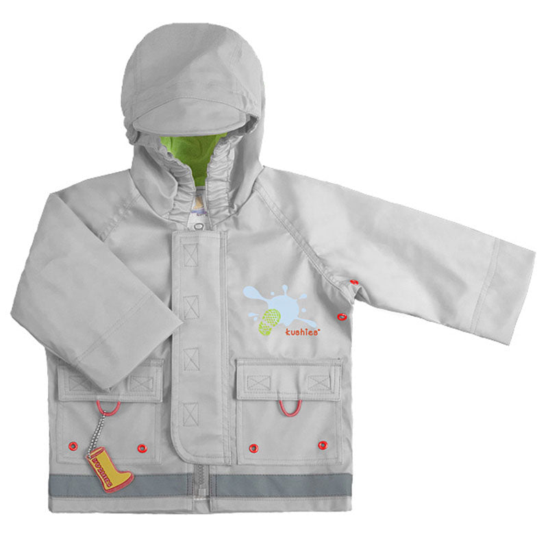 Splish Splash Rain Jacket Silver