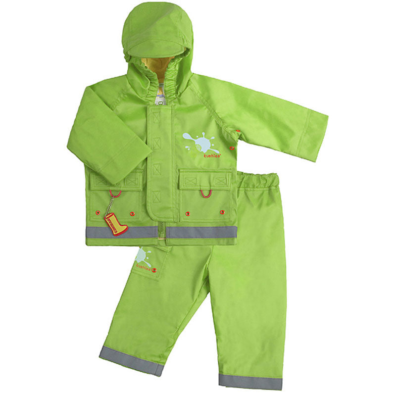 Splish Splash Rain Jacket & Pant Set Green