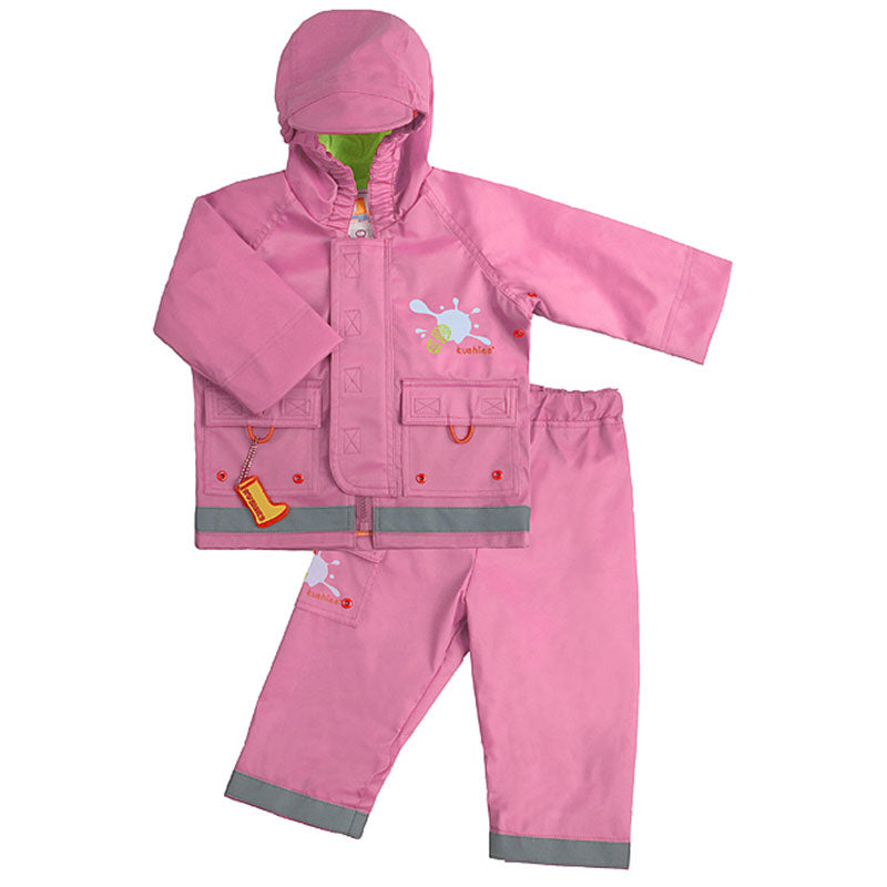 Splish Splash Rain Jacket & Pant Set Pink