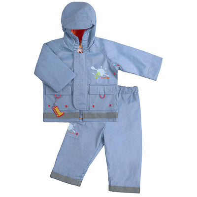 Splish Splash Rain Jacket & Pant Set Blue
