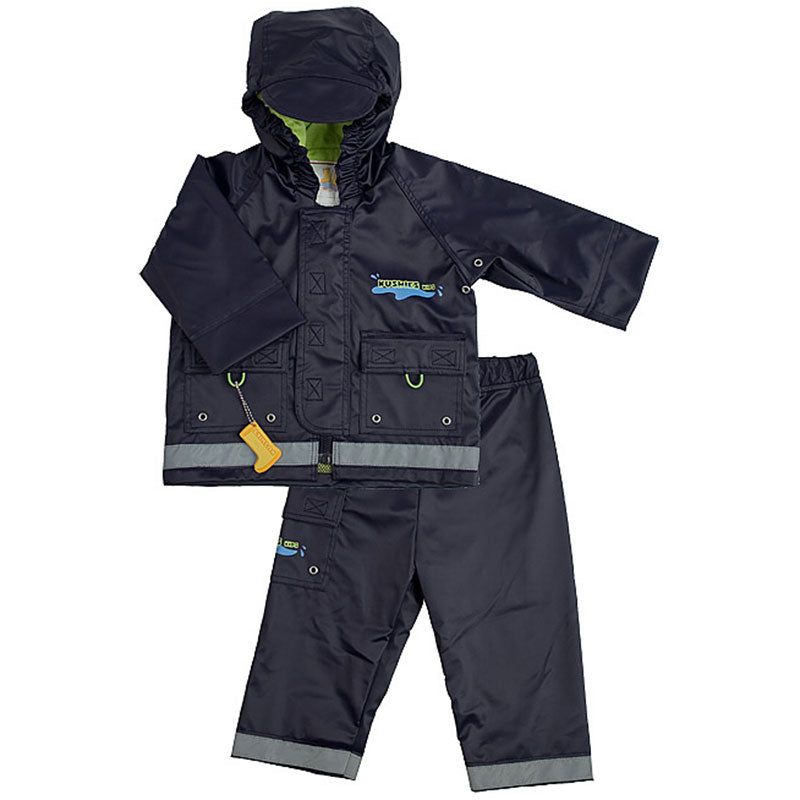 Splish Splash Rain Jacket & Pant Set Navy