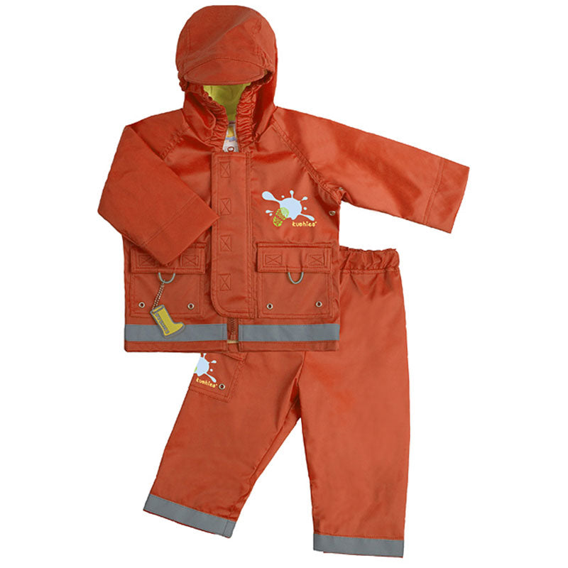 Splish Splash Rain Jacket & Pant Set Orange