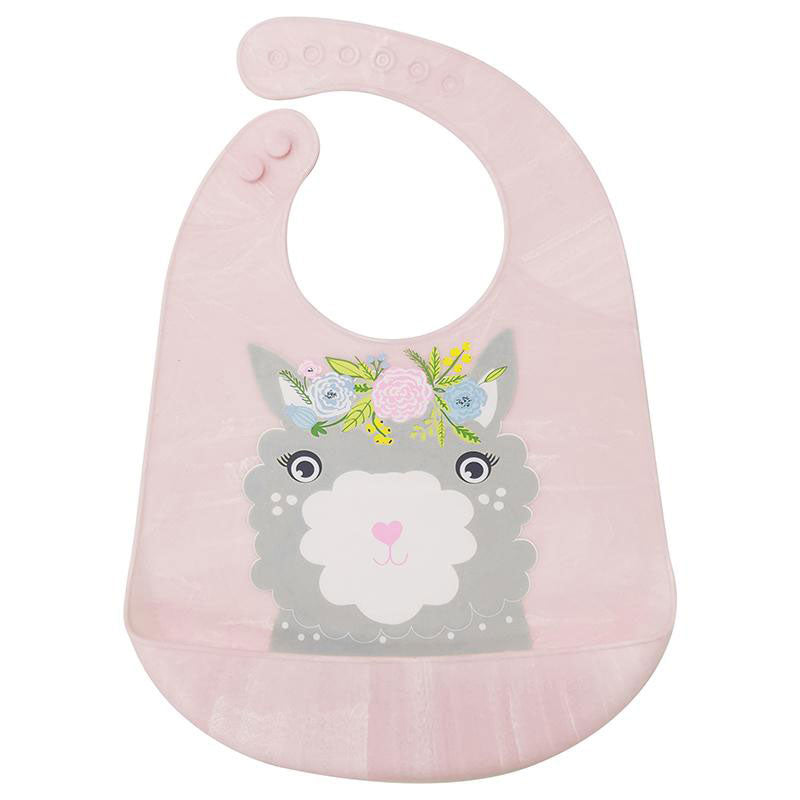 pink marble silicone bib
