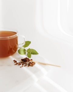 Mint Peppermint cacao herbal loose leaf tea