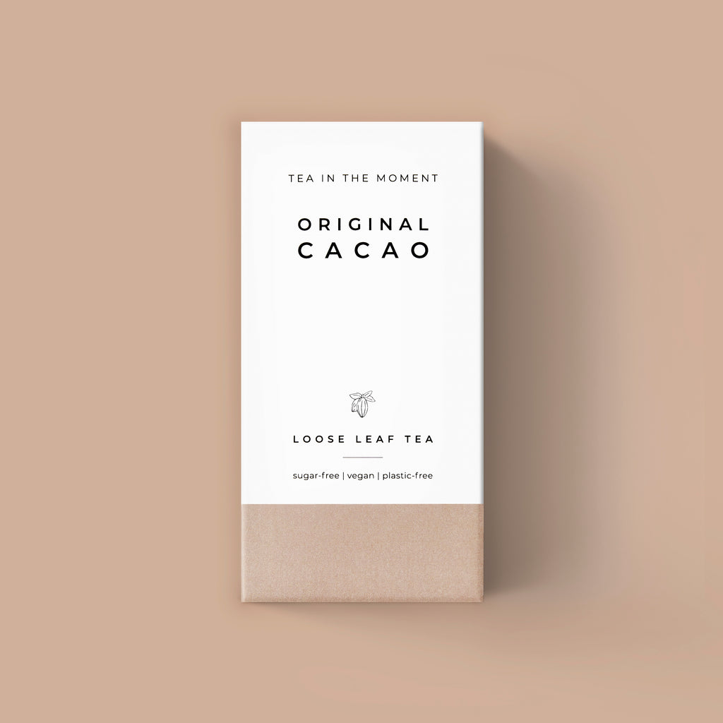Original chocolate cacao herbal loose leaf tea