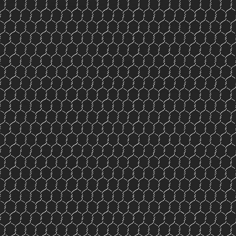 "108"" Chicken Wire Quilt Backing Fabric - Black - ineedfabric.com"