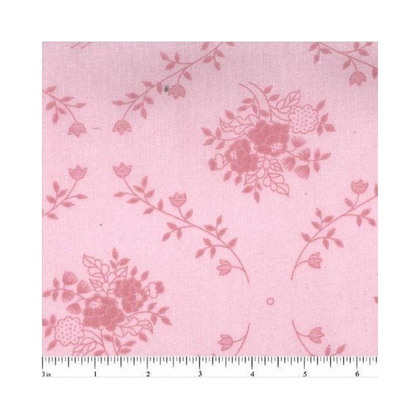 "108"" Floral Bouquet Quilt Backing Fabric - Light Pink - ineedfabric.com"