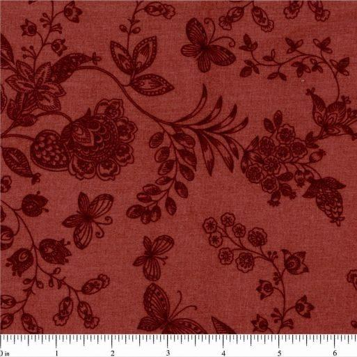 "108"" Floral Quilt Backing Fabric - Dark Pink - ineedfabric.com"
