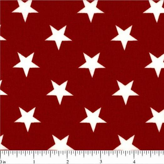 "108"" Large Star Quilt Backing - Red - ineedfabric.com"