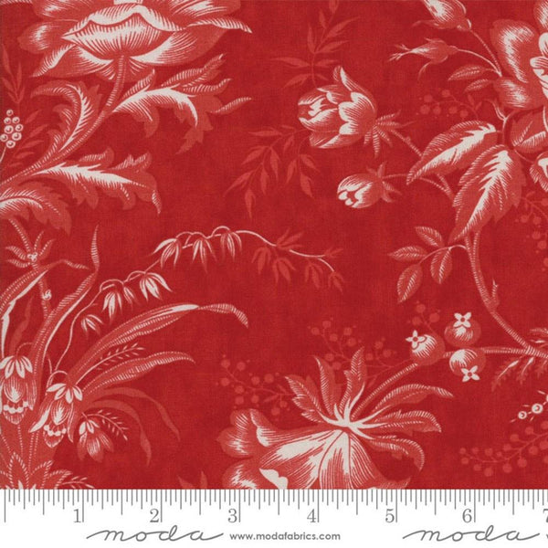"108"" Moda Quilt Backing Snowberry - Berry Red"