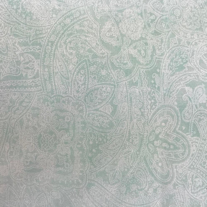 "108"" Paisley Quilt Backing Fabric - Mint Green - ineedfabric.com"