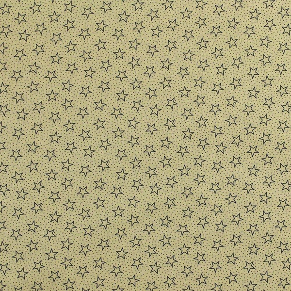 "108"" Quilt Backing, Antique Stars and Dots Fabric - Navy - ineedfabric.com"