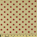 "108"" Quilt Backing, Large Antique Stars Fabric - Red - ineedfabric.com"
