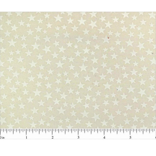 "108"" Stars Natural Quilt Backing Fabric - Tone on Tone - ineedfabric.com"