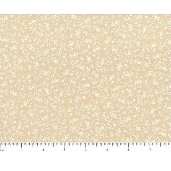 "108"" Tone on Tone Floral Quilt Backing Fabric - Tea Stain - ineedfabric.com"