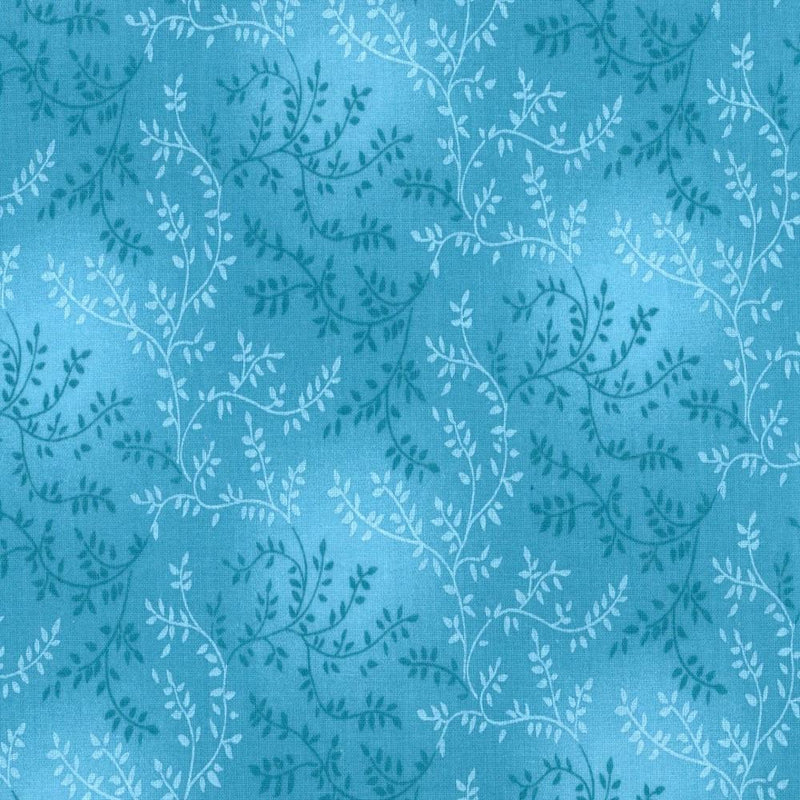 "108"" Vine Quilt Backing Fabric - Teal - ineedfabric.com"