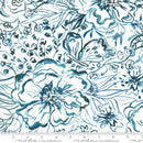Moda, Passion Flowers Fabric - Jadeite