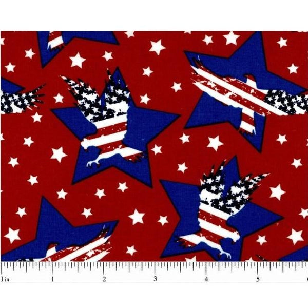 Allover Stars and Eagle Fabric - ineedfabric.com