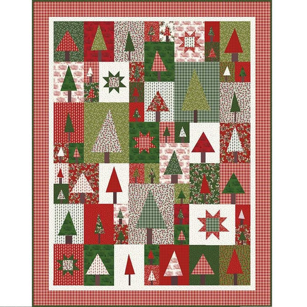 Amy Smart Pine Hollow Patchwork Forest Quilt Pattern - ineedfabric.com