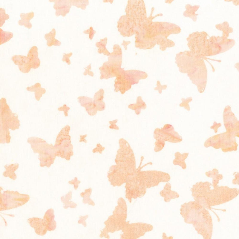 Anthology, Butterfly Batik Fabric - Peach - ineedfabric.com