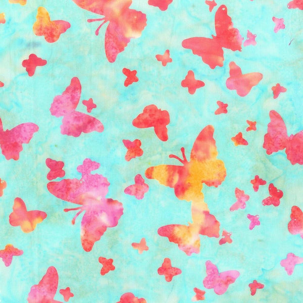 Anthology, Butterfly Batik Fabric - Vibrant - ineedfabric.com