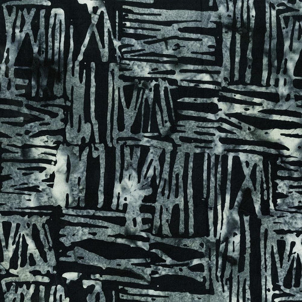 Anthology Fabrics, Batik Sticks Quilt Backing - Charcoal - ineedfabric.com