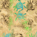 Anthology, Turtles Batik Fabric - Sand - ineedfabric.com