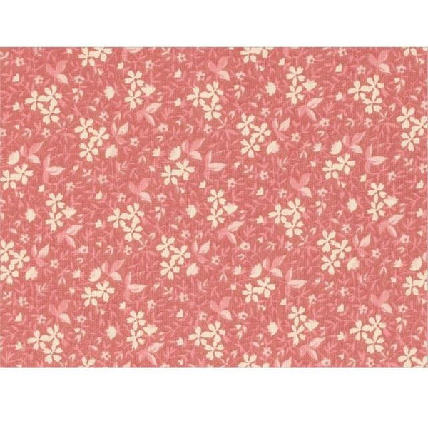 Antique White and Pink Vintage Flowers Fabric - ineedfabric.com