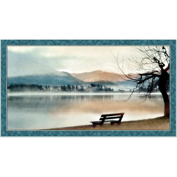 Artworks X, Lake Panel - Blue - ineedfabric.com