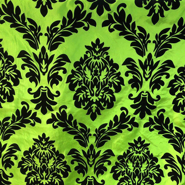 Baroque Home Interior Fabric - Lime Green - ineedfabric.com