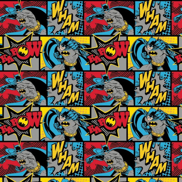 Batman Wham Kapow Flannel Fabric - Multi - ineedfabric.com