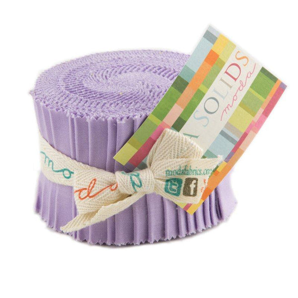 Bella Solids Lilac Junior Jelly Roll - 20 Strips - ineedfabric.com