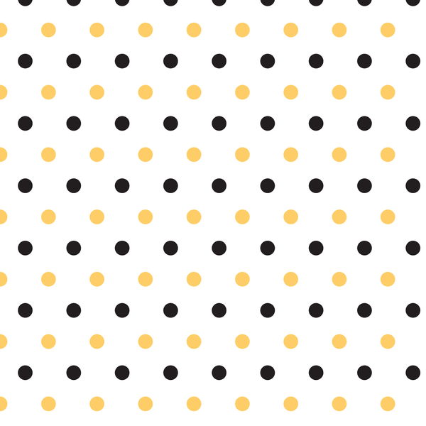 Black And Yellow Polka Dots Fabric - ineedfabric.com
