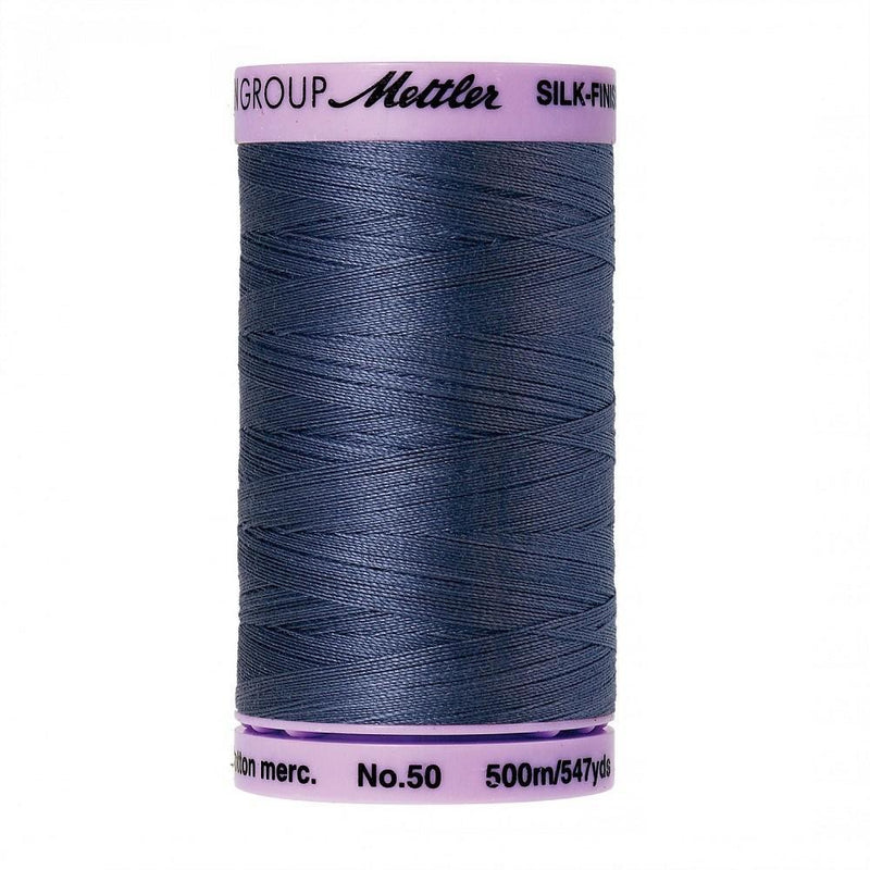 Blue Shadow Silk-Finish 50wt Solid Cotton Thread - 547yds - ineedfabric.com