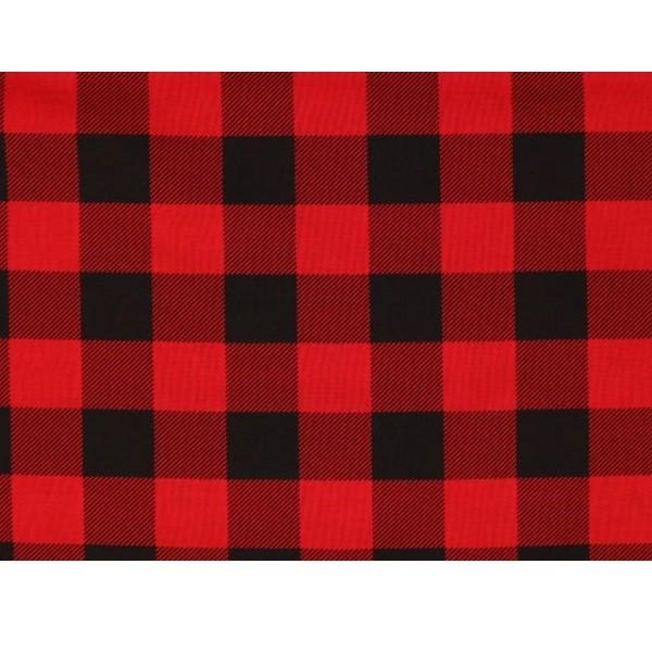 Buffalo Plaid Fabric - Red - ineedfabric.com