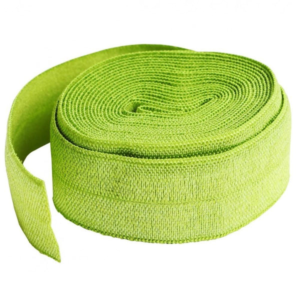 By Annie, Fold-over Elastic 3/4 inches x 2 yards - Apple Green - ineedfabric.com