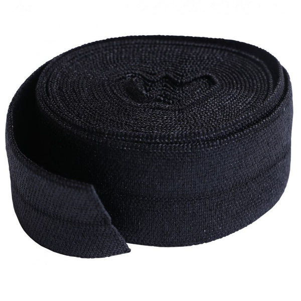 By Annie, Fold-over Elastic 3/4 inches x 2 yards - Black - ineedfabric.com