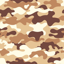 Camouflage Fabric - Light Brown - ineedfabric.com