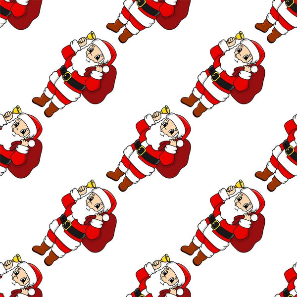 Cartoon Christmas Santa Claus Fabric - ineedfabric.com