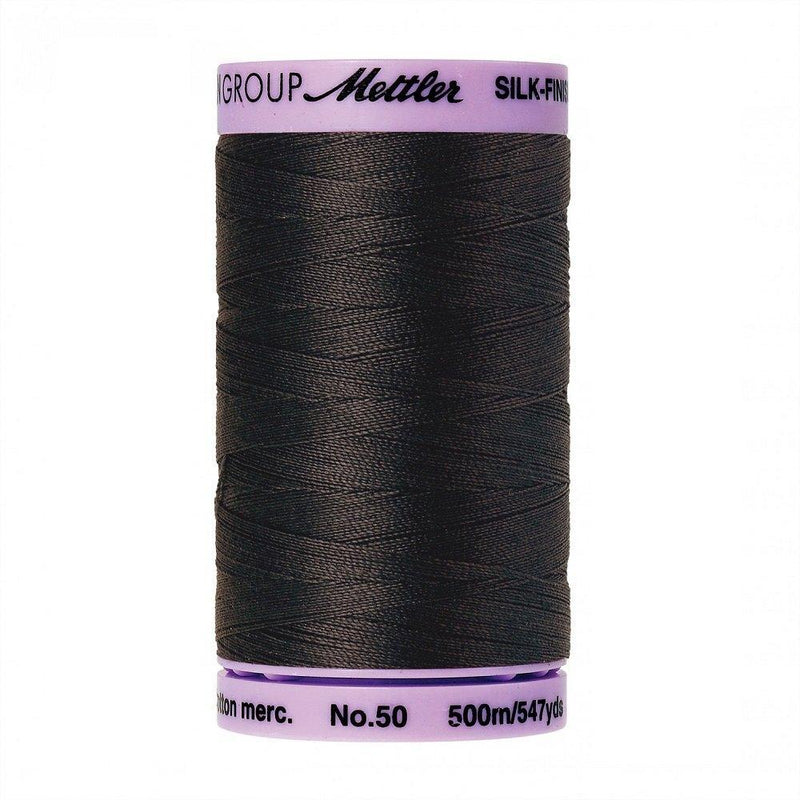 Charcoal Silk-Finish 50wt Solid Cotton Thread - 547yds - ineedfabric.com