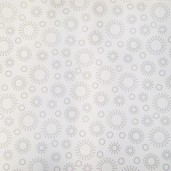 Circle Tone on Tone Fabric - Gray on White - ineedfabric.com