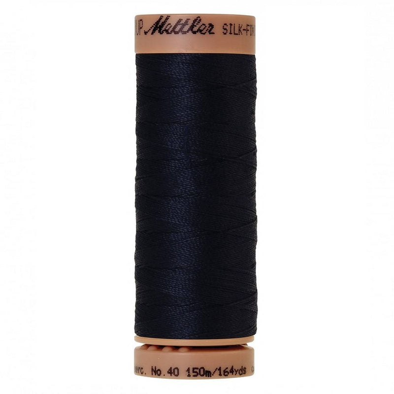 Dark Blue 40wt Solid Cotton Thread 164yd - ineedfabric.com